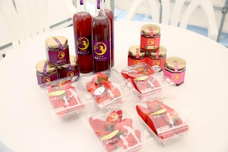 かぐや農園の商品紹介(いちご、苺ジャム、ぶどうジュース、ぶどうジャム)